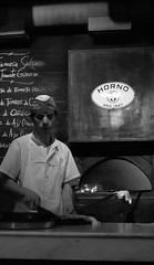 mster pizza (Fer Gonzalez 2.8) Tags: people blackwhite buenosaires working pizza horno guerrin avcorrientes leicadlux4