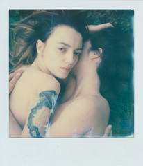 Warmth (aseptyczny) Tags: girls portrait tattoo nude polaroid ishootfilm slr680 filmisnotdead impossibleproject