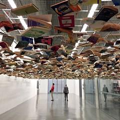 142 / 366 (lufegu) Tags: architecture reflections books ceiling hallway museumofmodernart installation installationart artwatchers leadinglines bitestructure