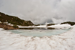 icy pond (DeCo2912) Tags: schnee snow mountains alps ice schweiz switzerland alpen svizzera 8mm eis walimex uri arnisee samyang sunnegrtlihtte
