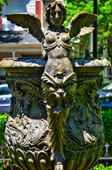 4th Ward Garden Tour (RockyStewart) Tags: statue urn gardens italian charlotte uptown 4thward fourthward 4thwardgardentour