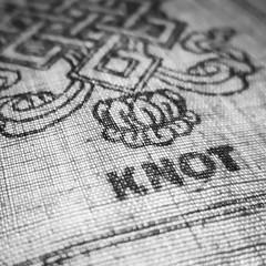 knot (jojoannabanana) Tags: blackandwhite monochrome closeup square knot squareformat canonpowershot prayerflag s100 3662016