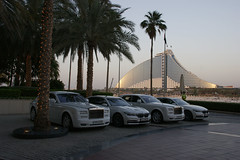 Cars at Burj al Arab (Tomasz Odziemczyk) Tags: al dubai arab rolls royce burj