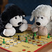Lavendi and Blacky are playing Ludo