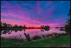 Sunset Magic (Mike Schurmann) Tags: sunset print landscape pano australia lagoon queensland rockhampton mikeschurmann
