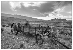 Antique Farm Implement (AnEyeForTexas) Tags: blackandwhite bw monochrome wagon antique 19thcentury machinery farmimplement bigbendranchstatepark fresnoranch