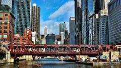 Chicago (Miradortigre) Tags: city bridge light urban usa sun chicago luz sol rio skyline architecture america river skyscrapers sunny ciudad urbano cite citiscape