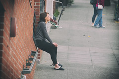 Early Riser (Manzurur Rahman Khan) Tags: seattle street morning people us washington unitedstates pikeplace smoker