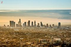 Good Morning LA (Jamsheed Photography) Tags: losangeles la morning sunshine clouds sky downtown buiildings skyscrapers skyline us sunrays sunrise city aerial view