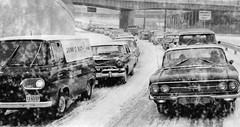 Baltimore, 1964 (cruisemagazine) Tags: from street up st known paul this was see jones photo am do traffic you or south january bridges taken run it location baltimore falls here retro just wait what interstate expressway bothering wintertime past bound peg 83 caption backed until because calvert 1964 lanes according cruel im carspotting jfx specifically i tumblog well suns