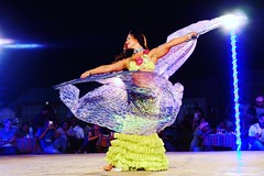 The belly dancer. (shierie) Tags: show travel lady dance dubai purple desert uae bellydancer dancer grace explore