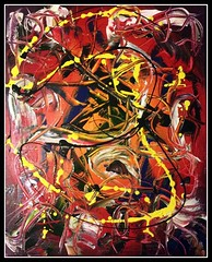 Red Beard (joe_gergen) Tags: red abstract black art painting beard acrylic pirate