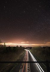 The Milky Way, taken from an over pass on the way to New Ross, Co Wexford, Ireland.  (Liamonline1989) Tags: life road new longexposure ireland light irish love car night canon stars landscape long exposure nightscape trails potd iso tokina galaxy wexford carlights waterford nightscapes milkyway newross canon6d