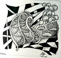 Zentangle #004 (m10pfg) Tags: 004
