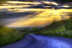 Country lane (jamietaylor2127) Tags: road sun clouds ray dusk lane burst sigma30mm gf6