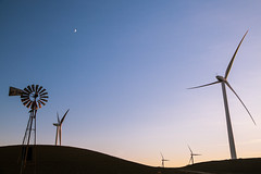 out with the old... (Matthew Almon Roth) Tags: windmill wind windfarm sustainable renewable windenergy renewableenergy solanocounty sustainableenergy