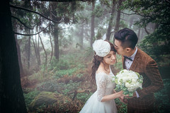 [somewhere in Taiwan] mist forest (pooldodo) Tags: wedding prewedding taiwan mist forest pooldodo taotzuchang bride groom