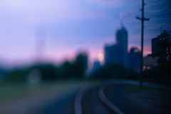 (cara zimmerman) Tags: sunset indianapolis traintracks tracks freelensing