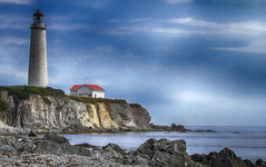 Cap Desrosiers (vamp8888) Tags: ocean park summer lighthouse house seascape canada clouds canon landscape quebec august atlantic 7d gaspesie forillon
