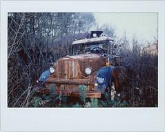 junkyard (Mycophagia) Tags: abandoned truck rusty scan junkyard analogue instax epsonv600