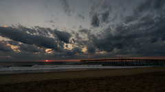 _DSC1503 (chriswheatley97) Tags: obx outer banks north carolina nags head fishing pier morning sunrise ocean beach sand clouds sun