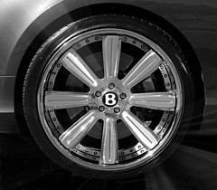 B is for Bentley (Colorado Sands) Tags: bentley 2015 denver colorado sandraleidholdt luxury vehicle motorvehicle car monochrome blackandwhite tire wheel b text rim
