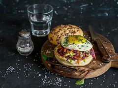 breakfast burger... (sonja-ksu) Tags: food breakfast salad burger egg snack healthyfood foodstyling