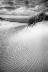 zero footprint (alouest225) Tags: ocean sea blackandwhite mer seascape france beach monochrome landscape sand nikon noiretblanc sable d750 paysage plage hdr atlantique bassindarcachon ocan aquitaine gironde dunedupilat