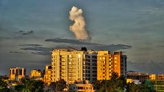 DSC00092_HDR (fahd.b.iqbal) Tags: blue sunset sky tree green birds yellow clouds landscape photography sony dhaka alpha bangladesh hdr gulshan hdrphotography a6300