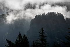 Pterodactyl Habitat? (maytag97) Tags: shadow cliff fog contrast dramatic bluff filteredlight maytag97