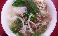 Pho at Pho Tien Thanh (deeeelish) Tags: beef onions basil noodles pho