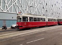 Old Tram in Vienna (roomman) Tags: vienna wien old city vintage austria town 60s kultur transport culture tram railway stadtmitte wiener 1960s mitte 60 1960 landstrasse 2016 linien wienerlinien