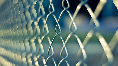 Chainlink Prison Fence--of bigotry barring U.S. citizens from their most sacred right in democracy