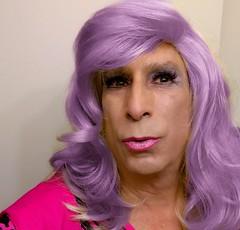 More Purple.  Yum. (bevhills2) Tags: purple purplehair coloredhair lipstick tranny trans tgirl tgurl kiss kissme pinkkiss