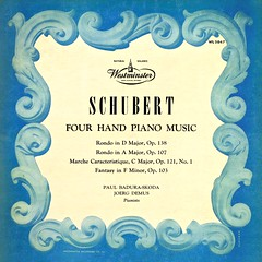 Schubert Piano Music for Four Hands - Badura-Skoda Demus Westminster 1 (sacqueboutier) Tags: vintage vinyl vinylnation vinylcollection vinylcollector vinyllover lp lps lplover lpcollection lpcollector lpcover westminster gold opera piano records record classical classicalmusic romantic