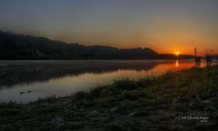 Soul Food (Carlie Hensley) Tags: morning light ohio orange sun water sunshine sunrise river quiet huntington ducks calm westvirginia serenity serene riverfront rays