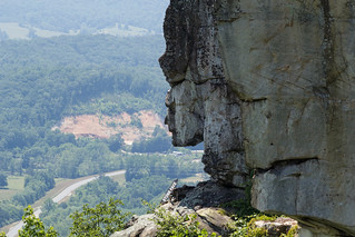 The face of the rock