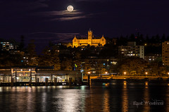 The Strawberry Moon (East Western) Tags: winter moon st strawberry mask cathedral manly sydney australia full solstice wharf patricks seminary hdr northernbeaches