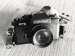 Contax RTS + Carl Zeiss Tessar 45mm f2.8 (jcbkk1956) Tags: camera black slr film analog 35mm contax manual rts yashica carlzeiss 45mmf28