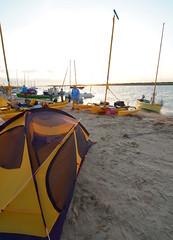 Camp One (chadbach) Tags: ocean camp beach water port island one bay boat sailing texas adventure 200 sail tandem hobie mansfield jetties 2016