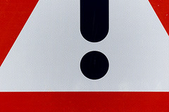 Warning sign (Jan van der Wolf) Tags: red sign composition warning decay watchout redrule trafficsign rood warningsign verkeersbord warn waarschuwing compositie pasop beschadiging waarschuwingsbord map961v