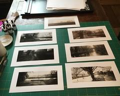 Prints (carwyn2) Tags: darkroom mounted prints salisbury contact wiltshire toned wilton wylye