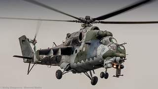 Czech Air Force Mi-35 Hind flyby