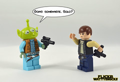 Disney Cantina (WattyBricks) Tags: greedo cantina star wars lego episode iv new hope han solo alien disney toy story pixar minifigures