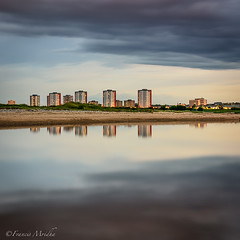 Aberdeen Through The Clouds (Francis Mridha) Tags: city longexposure nightphotography travel colour water clouds reflections river coast scotland nikon cityscape aberdeenshire dramatic clam aberdeen destination donmouth visitscotland