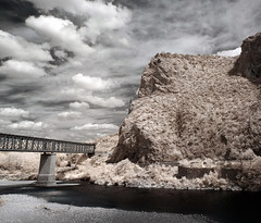 Perspectives (Lolo_) Tags: bridge mountain france water saint montagne river ir jean rivire infrared pont gard gardon anduze cvennes infrarouge