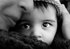 Baby bright eyes (moofishbear) Tags: eyes baby winter mother love beauty