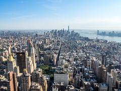 New York City (Anthony's Olympus Adventures) Tags: newyorkcity newyork nyc ny cityscape buildings city empirestatebuilding manhattan manhattanviews midtownmanhattan lowermanhattan observationdeck skyscraper