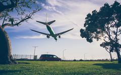 LAX EVA Arrival (AlessioRLoreti) Tags: california sunset airplane los airport eva angeles aviation air boeing lax 777 arrivals klax
