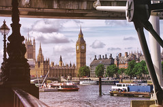 South Bank in June (cuppyuppycake) Tags: bridge houses westminster thames river boats big nikon ben outdoor south centre under bank parliament waterloo d7200